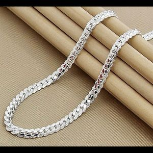 Other - Sterling Silver 925 Links Chain Necklace Unisex